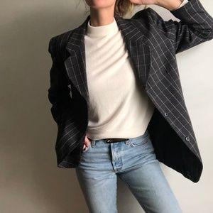 VINTAGE/ plaid overcoat blazer